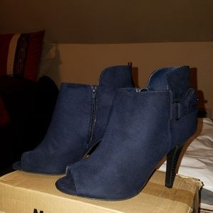 Navy Ankle Booties NWOT